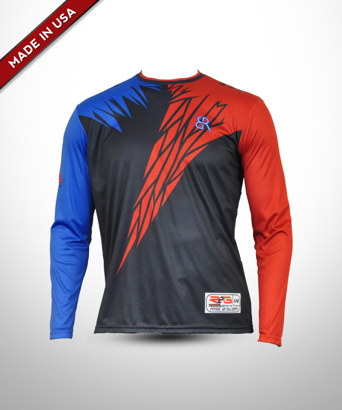 Full Dye Sub Compression Shirt – Long Sleeves – Adult